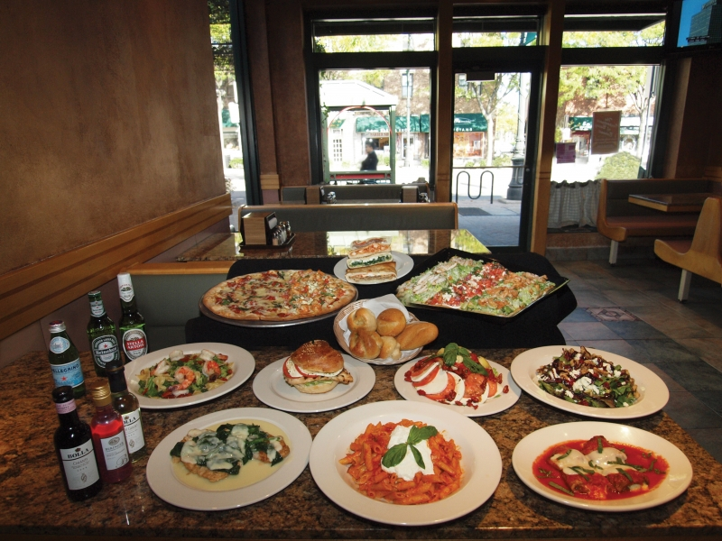 Great restaurants casual dining Garden city pizza